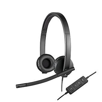 Hörlurar med pannband Logitech H570e Svart
