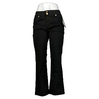 Global Chic By Iman Women's Petite Jeans Slim Bootcut Black 685831
