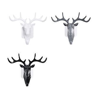 Pohjoismainen seinä roikkuu peura sarvi koukut sisustus (valkoinen)