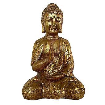 Plutus Brands Sitting Buddha in Gold Resin