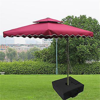 Mimigo Square Umbrella Base Weight Bag Fits Any Offset, Cantilever & Any Outdoor Patio Umbrella Stand ~ Easy Set Up (black)