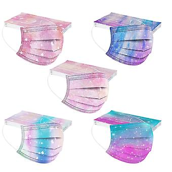 قناع 50pc للأطفال قناع المتاح ثلاث طبقات واقية Meltblown القماش الكرتون قناع الطباعة