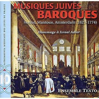 Ensemble Texto - Musiques Juives Baroques [CD] USA import