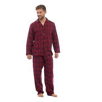 Mens bavlněný dvůr barvený šek pyjama společenská sada