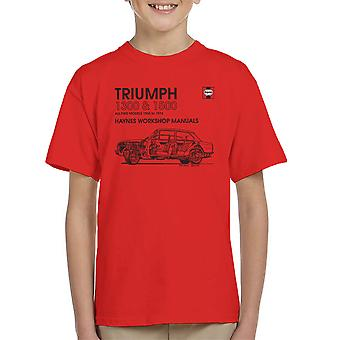 Haynes Workshop Manual 0086 Triumph 1300 1500 Black Kid's T-Shirt