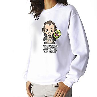Lil Peter Venkman We Came We Saw Ghostbusters Women's Sweatshirt