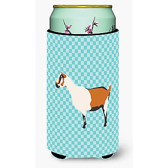 Alpine Goat Blue Check Tall Boy Beverage Insulator Hugger