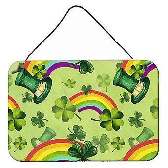 Aquarelle de Saint-Patrick jour chanceux Leprechan mur ou porte suspendue imprime