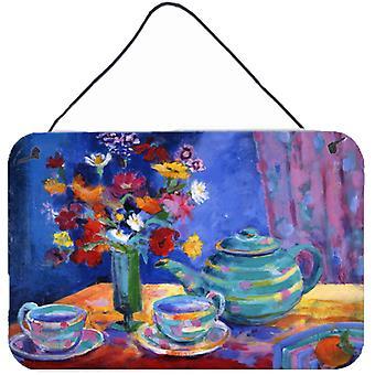 Blauer Tee von Wendy Hoile Wand oder Tür hängen Drucke