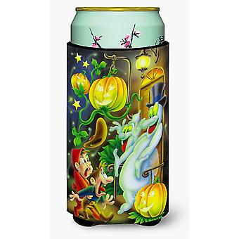 Scary Ghosts and Halloween Trick or Treaters Tall Boy Beverage Insulator Hugger