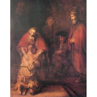 Return of the Prodigal Son Poster Print by Rembrandt van Rijn (22 x 28)