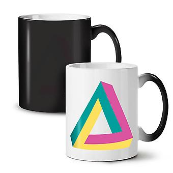 Impossible Triangle NEW Black Colour Changing Tea Coffee Ceramic Mug 11 oz | Wellcoda
