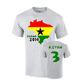 Ghana 2014 Pays Drapeau T-shirt (a.gyan 3)