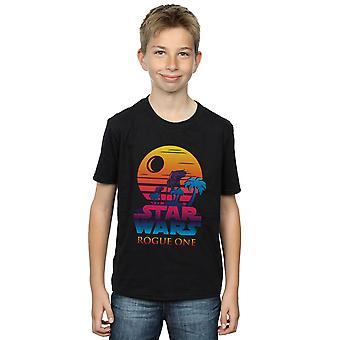 Meninos de Star Wars Rogue um logotipo t-shirt do sol