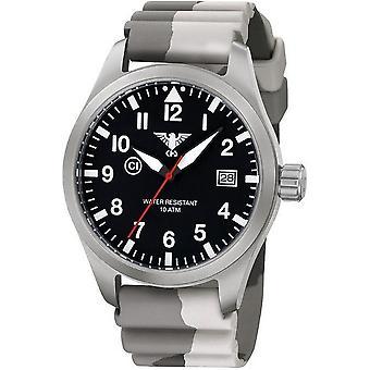 KHS horloges mens watch Airleader staal KHS. VOOR HET EERST UITGEZONDEN. DC5