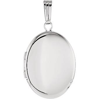925 Sterling Silber ovalfoto Medaillon Anhänger Halskette mit gravierten 29.25x15.5mm Schmuck Geschenke für Frauen