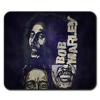 Marley Bob Jamaican  Non-Slip Mouse Mat Pad 24cm x 20cm | Wellcoda