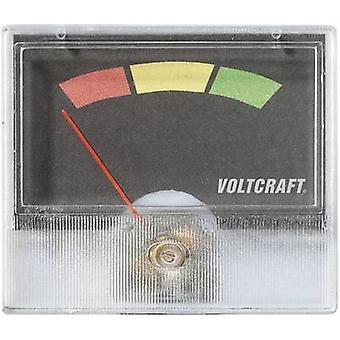 Analogue rack-mount meter VOLTCRAFT AM-49X27 Traffic light (red/yellow/green)