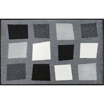 wash + dry dirt mat box Park grey 50 x 75 cm washable floor mat