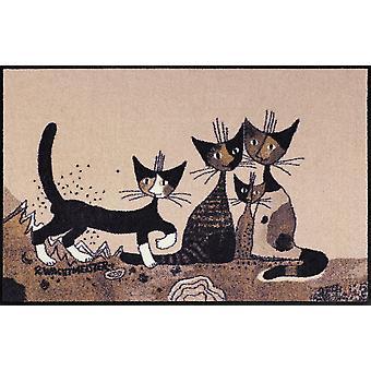 Rosina Wachtmeister paillasson Serafino & friends 75 x 120 cm lavable saleté cat mat