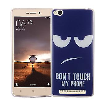 Mobiele telefoon geval voor Xiaomi Redmi 3 cover case beschermende zak motief slanke siliconen TPU raak niet mijn telefoon Blau