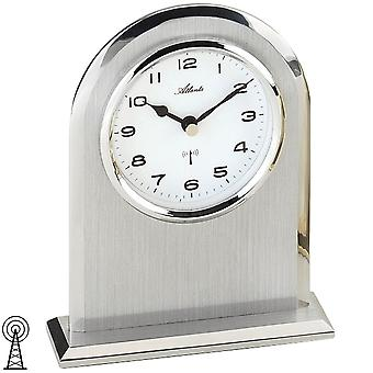 Table clock table partially frosted silver clock style clock radio radio clock