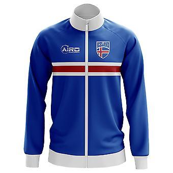 Island konseptet fotball Track Jacket (blå) - barn