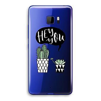 Transparentna Ultra U HTC sprawa (miękkie) - Hej ty Kaktus