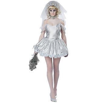 Fantomatique mariée fantôme mariage cadavre journée du Costume Halloween mort Womens