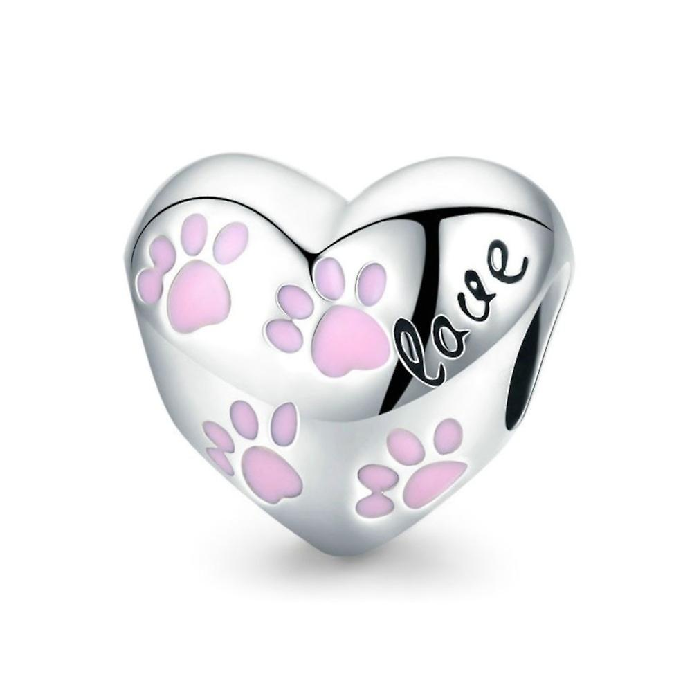 Sterling silver charm Love dogs