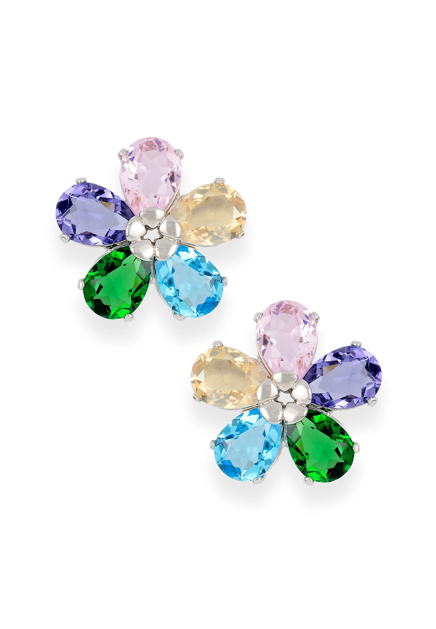 Multicolor earrings with crystals from Swarovski 390