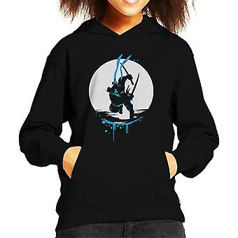 Teenage Mutant Ninja Turtles Leonardo Silhouette Kid's Hooded Sweatshirt