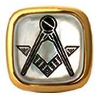 David Van Hagen Masonic Square Tie Tac - Mother of Pearl
