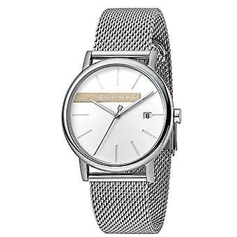 ESPRIT Herrenuhr Uhren Quarz analog Holz Silber Mesh