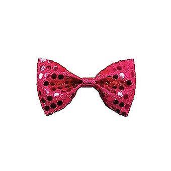 Bow Tie Sequin. Pink.