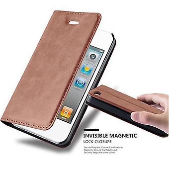 Fodral för iPhone 4 / 4S vikbart telefonhölje - lock - med stativfunktion och kortfack