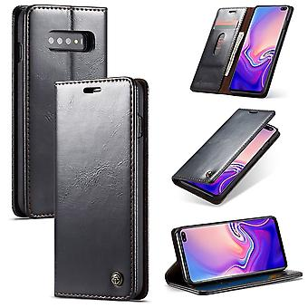 CaseMe protective cover cell phone case for Samsung Galaxy S10 business bag wallet black