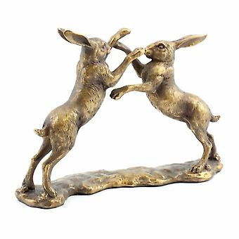 Twin Hares Ornament