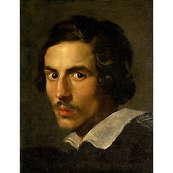 Zelfportret als jeugd, Rosso Fiorentino, 50x40cm