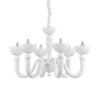 Ideel Lux - Bon Bon Matt White seks lys lysekrone IDL093994