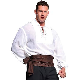 Pirate blanc chemise adulte