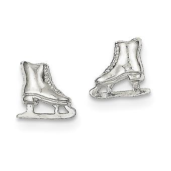 925 Sterling Silver Polished Post Boucles d'oreilles Ice Skate Mini pour garçons ou filles Boucles d'oreilles - 2,0 Grammes