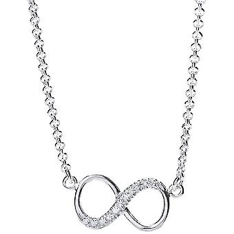 Bella Cubic Zirconia Single Infinity Necklace - Silver