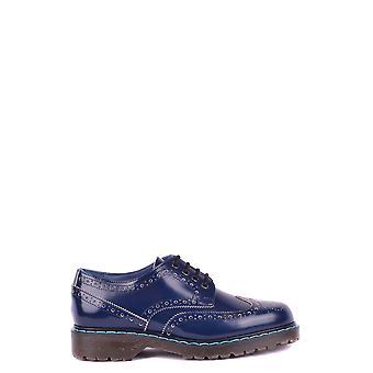 Philippe Modelo Ezbc019005 Men's Blue Leather Lace-up Shoes