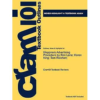 Studyguide for Kleppners Advertising Procedure by Reichert ISBN 9780136110828 by Cram101 Textbook Reviews