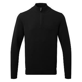 Asquith & Fox Mens Cotton Blend Zip Sweatshirt