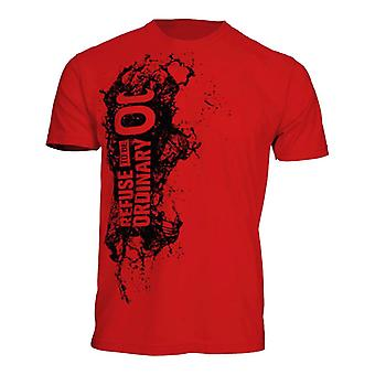 Jaco Mens Refuse To Be Ordinary Splash T-Shirt - Red/Black