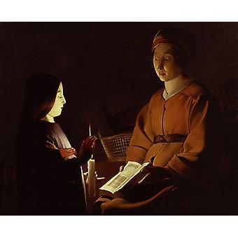 The Education of the Virgin, Georges de La Tour, 50x40cm