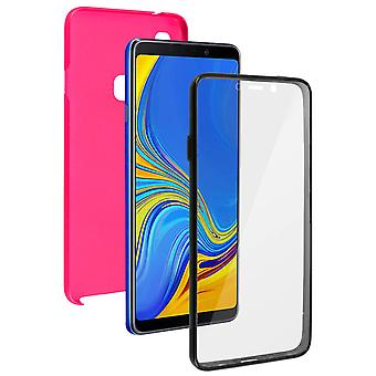 Silicone case + back cover in polycarbonate for Samsung Galaxy A9 2018 - Pink