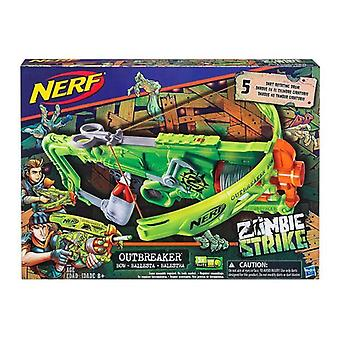 Nerf (B9093EU40) Zombie Strike Outbreaker Bow Blaster, multi color
